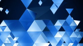 Blue Triangles Background Loop