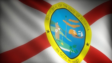 Flag of Florida - stock footage