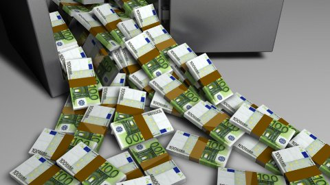 db Money Safe 05 hd1080 euros - stock footage