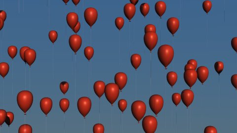 db colorful balloons 04 hd1080 red - stock footage
