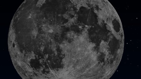 Full moon with stars - stock footage