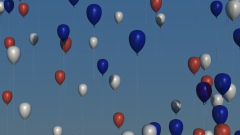 db colorful balloons 03 hd1080 red white blue - stock footage