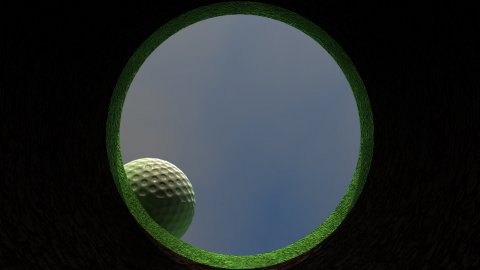 db golf 01 hd1080 hole in one - stock footage