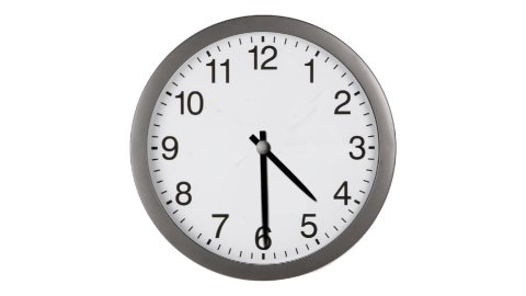 Clock Timelapse White Background hd1080 - stock footage