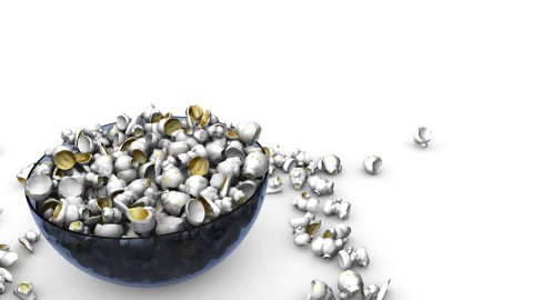 Popcorn falling into a Bowl 01 - stock footage