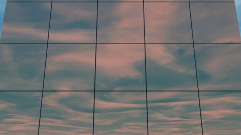 db clouds 11 building tilt reflection hd1080 - stock footage