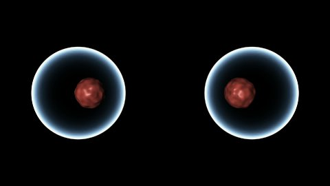 Cell splitting into two. - stock footage