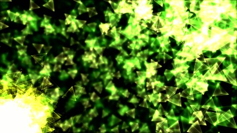 Rotating Pyramids Animation - Loop Green - stock footage