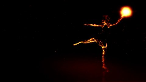 Particle Ballerine - stock footage
