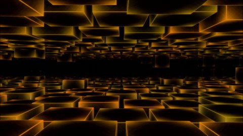 Abstract Moving Blocks Background - Loop Yellow - stock footage