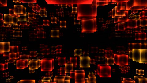 Abstract Moving Blocks - Loop Red - stock footage