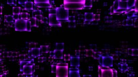 Abstract Moving Blocks - Loop Purple - motion graphic
