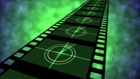 Movie Countdown Animation - Loop Green - stock footage