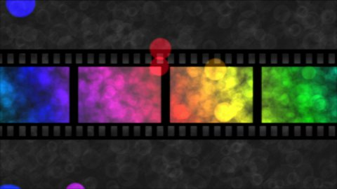 Movie Film Particle Background Animation - Loop Rainbow - stock footage