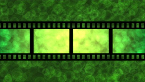 Movie Film Particle Background Animation - Loop Green - stock footage