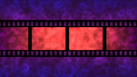 Movie Film Particle Background Animation - Loop Purple - stock footage