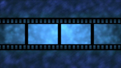 Movie Film Particle Background Animation - Loop Blue - stock footage