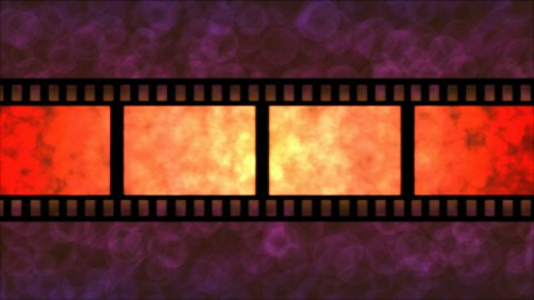 Movie Film Particle Background Animation - Loop Red - stock footage