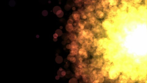 Colorful Particle Background - Loop Golden - stock footage