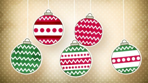 vintage christmas balls loopable animation - stock footage