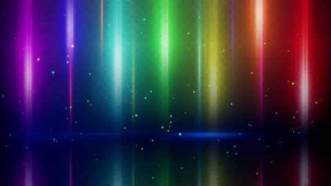 colorful light stripes and reflection loopable background - stock footage