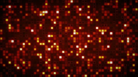 beaming orange squares loopable background - stock footage