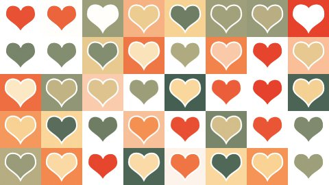 heart shape tiles loopable background - stock footage