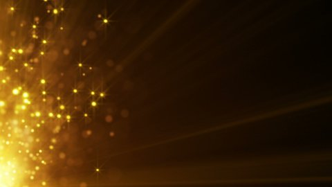 flying gold particles seamless loop background - stock footage