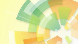 colorful circular segments loop background