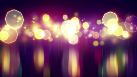 shiny bokeh lights with reflections loop background - stock footage