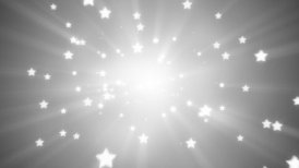 flying white star shapes loopable background