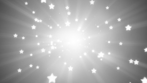 flying white star shapes loopable background - stock footage