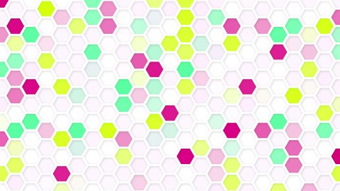 honeycomb mosaic loop background - stock footage