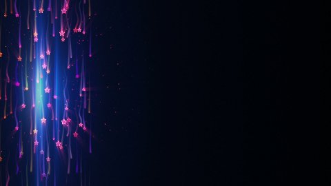 falling colorful stars with light tracks loop background - stock footage