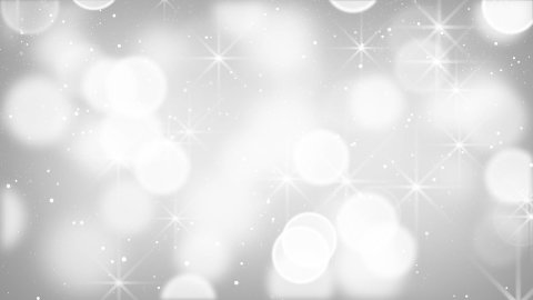 white bokeh lights particles and stars loop - stock footage