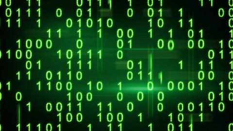 twitching green binary symbols loopable background - stock footage