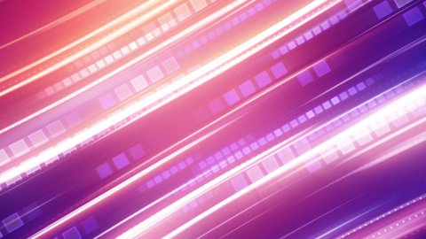 shiny pink stripes loopable background - stock footage