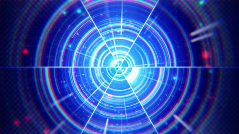 blue techno concentric segments loop - stock footage