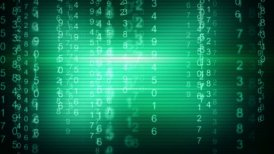 green digital matrix style loop background - motion graphic