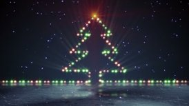 christmas tree shape lights on ice loopable