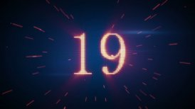 twitching numbers countdown - motion graphic