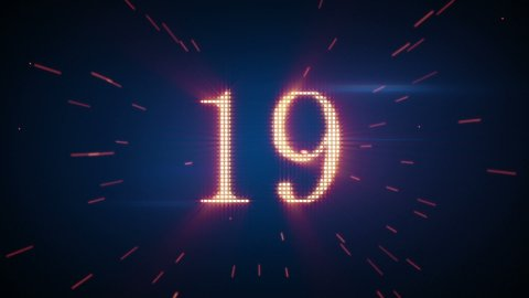 twitching numbers countdown - stock footage