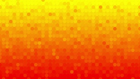 abstract orange circles mosaic loopable background - stock footage