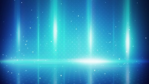 blue light stripes and particles loopable background - stock footage