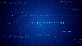blue technology texture loopable background - motion graphic