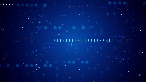blue technology texture loopable background - stock footage