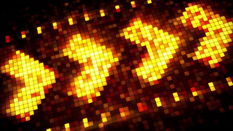 pixelated arrow sign hi-tech loopable background - stock footage