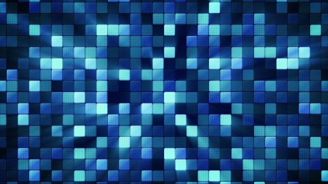 blue shiny mosaic tiles loopable background - stock footage