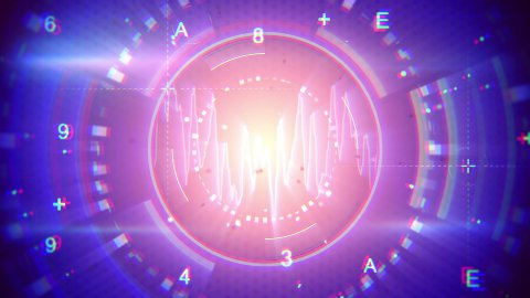 abstract techno loopable background - stock footage