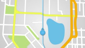 city map GPS navigation seamless loop - motion graphic